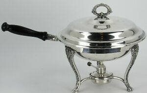 WM Rogers Silverplate Warming Chafing Dish With Burner And Stand