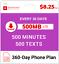 8-25-Mo-Red-Pocket-Prepaid-Wireless-Phone-Plan-SIM-500-Talk-500-Text-500MB