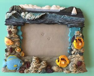 Sea-Shore-Frame-Fish-Acquarium-Style-Excellent-Condition-Ceramic