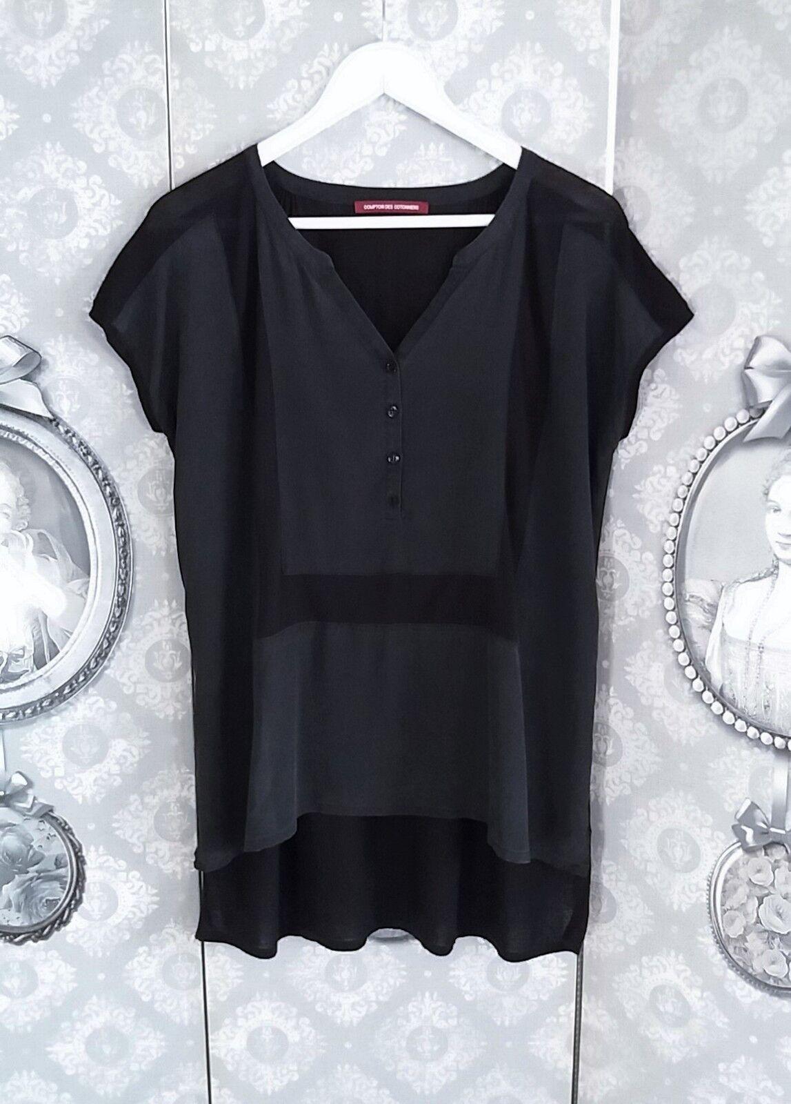 Tunique en Soie blacke Comptoir des Cotonniers size 1 Loose (40+)