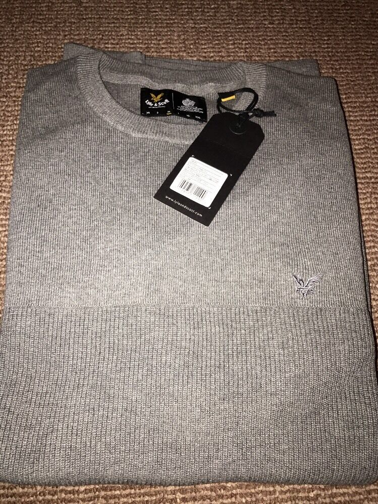 Lyle And Scott Grey Medium Jumper Crew Cut