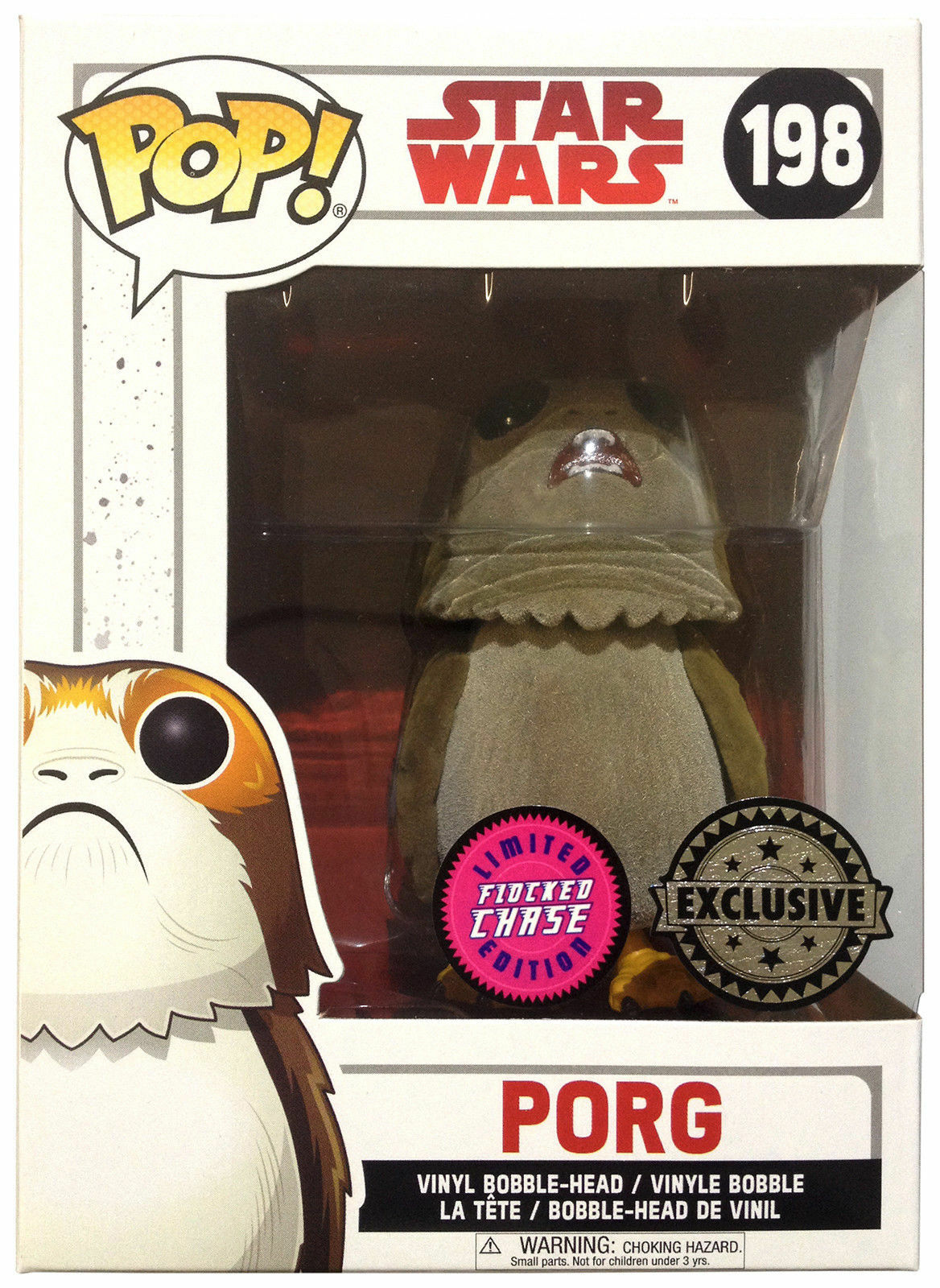 Funko Porg Chase Flocked  edition  Star Wars LAst Jedi figure