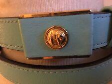 Turchese Gianni Versace vintage con cintura Versus Vita Alta Taglia 30