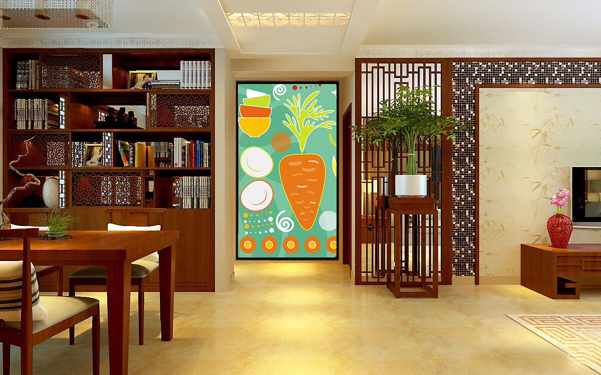 3D Carreds vegetables 1 WallPaper Murals Wall Print Decal Wall Deco AJ WALLPAPER