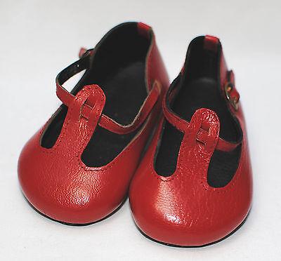 boneka Zapatos De Muñeca Rojo lazo 100N / Shoes t-straps
