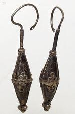 antik Orient nomaden Ohrringe afghan tribal kuchi Tussles Vintage earring 17/20