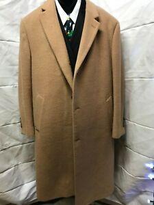 Lauren-Ralph-Lauren-Men-039-s-Tan-3-button-Wool-Blend-Overcoat-46R