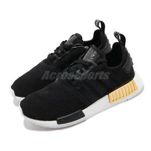 Adidas Originals Nmd R1 W Boost Black Gold White Women Shoes