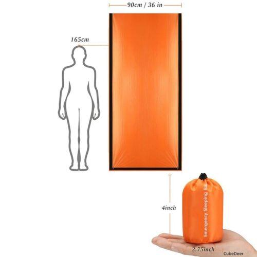Emergency Portable Camping Waterproof Lightweight Sleeping Bag Survival Blanket