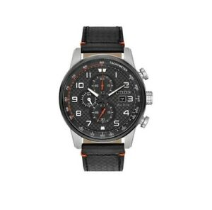 Citizen Eco-Drive B612-R009001 Chronograph Genuine Leather Tachymeter Mens Watch