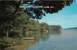 Star Lake Ny >> Details About Star Lake Ny 1967 Panoramic View Of Star Lake Vintage New York Lake Gem Rl471