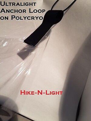 8 Noir UL Tyvek Boucles conçu pour polycryo SOL FEUILLE//Tente Empreinte//bâche