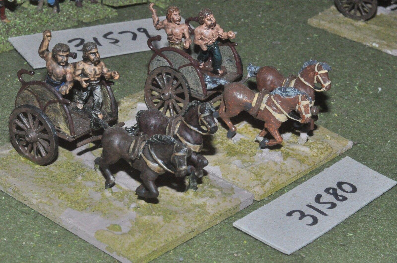 25mm roman era   gaul - 2 light - chariot (31580)