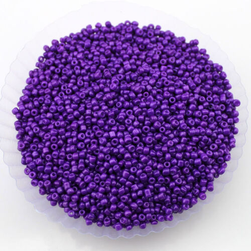 30g 2 Mm De Vidrio Opaco Seed Beads la fabricación de joyas encontrar Craft