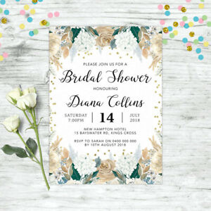 BRIDAL-SHOWER-INVITATIONS-PERSONALISED-FLORAL-INVITE-GOLD-FLORAL-HENS