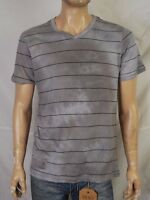 Marc Ecko V-neck Gray With Black Striped Tee $14.99 With Free Shipping Usa