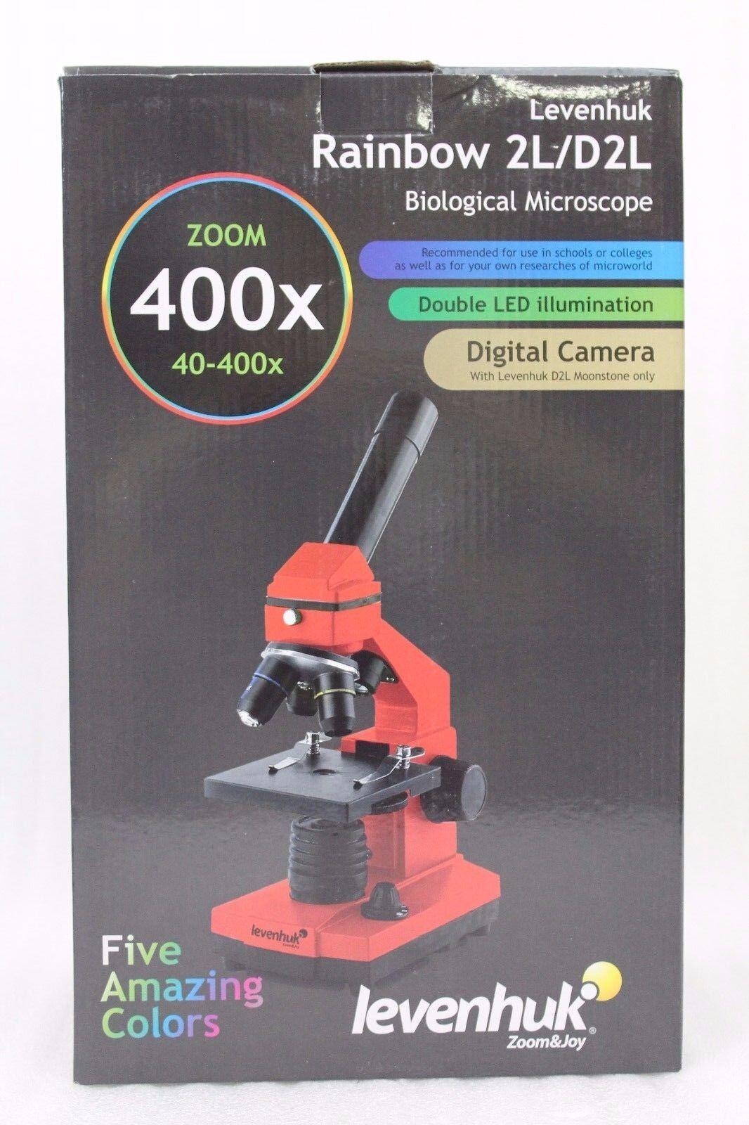 Levenhuk 2L Mikroskop Regenbogen Mondstein Grau inklusive Experiment Kit