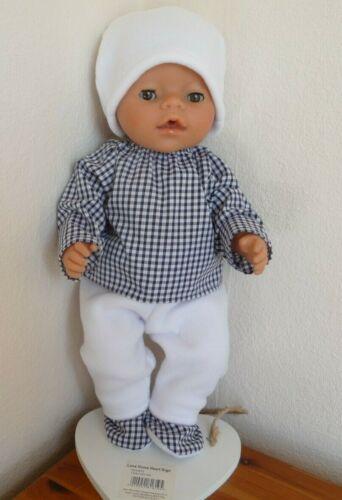 Baby DOLLS CLOTHES Hand made per adattarsi bambino nato BOY 18 pollici