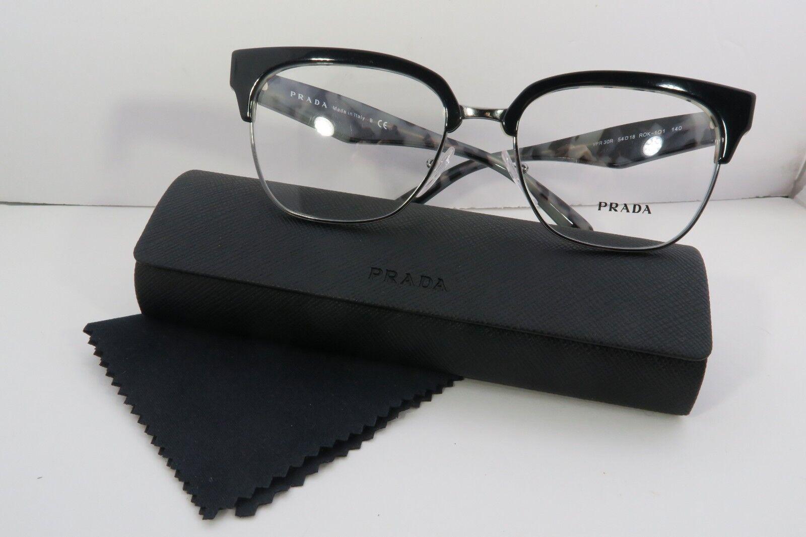 38b559deae54 Authentic PRADA Eyeglasses VPR 30r ROK Black DESIGNER Eyewear Frames ...