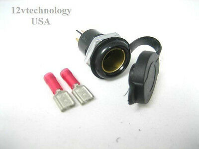 Continental DIN-HELLA 12//24V 15A CHASSIS Mount Accessory Power Socket