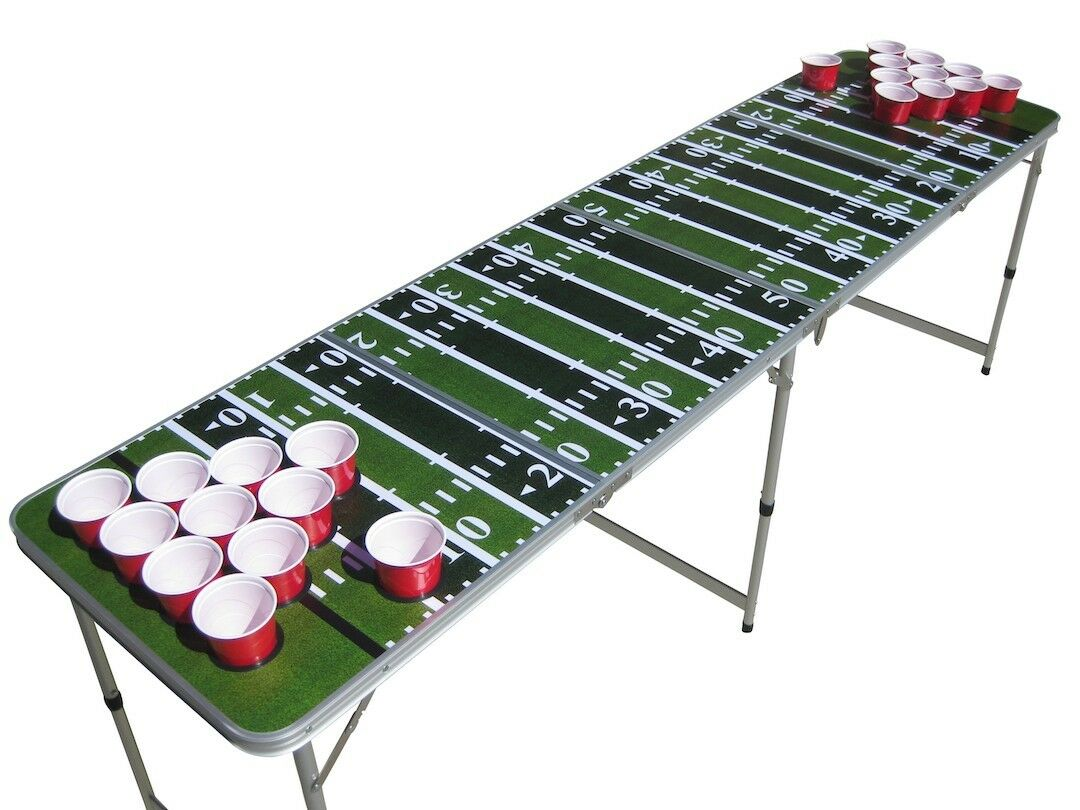 verde  Footbtutti field beer pong table beirut WITH pre-drilled cup HOLES  bellissimo