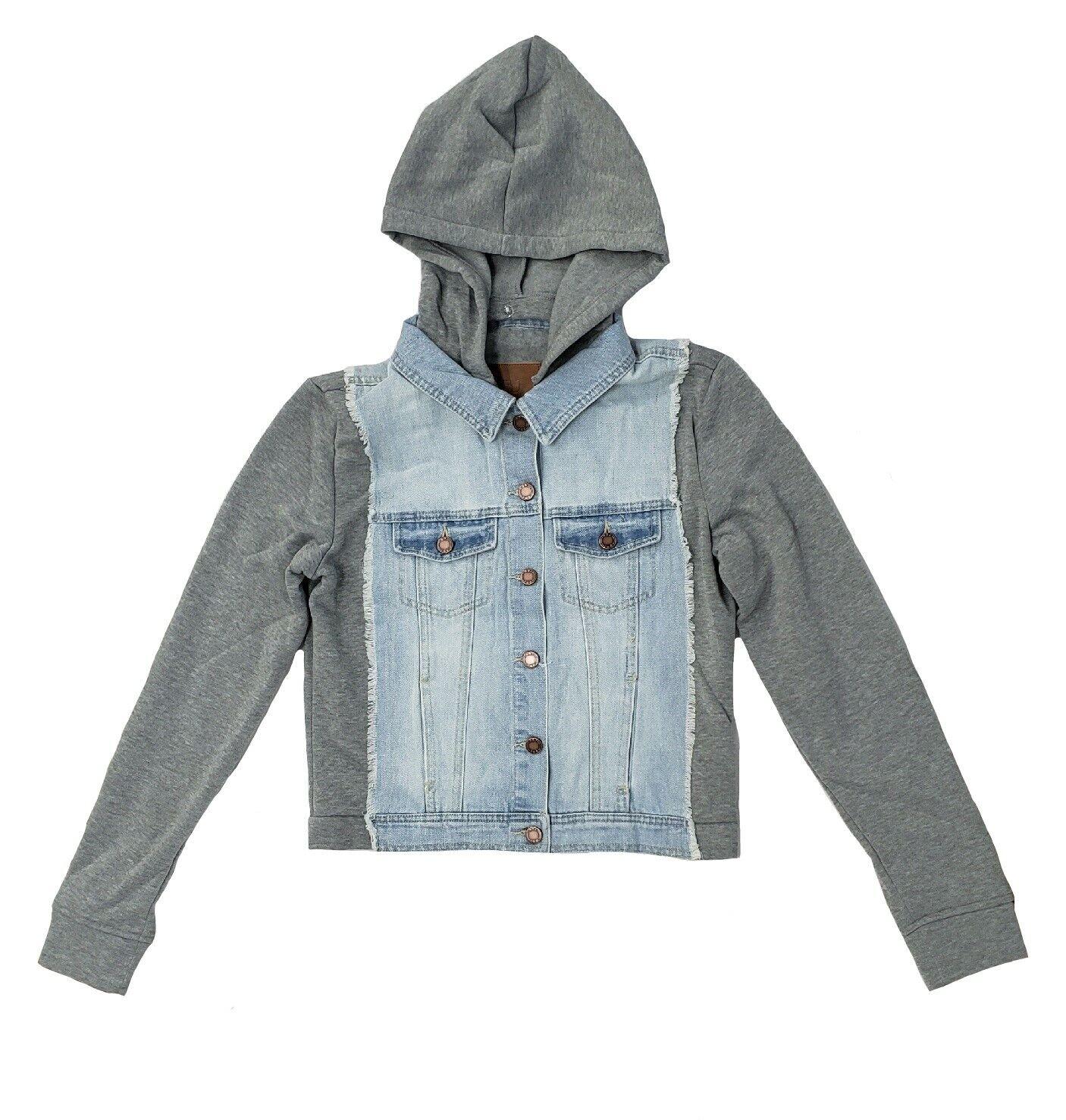 Boom Boom Jeans Denim Sweatshirt Jacket - JK21384Z