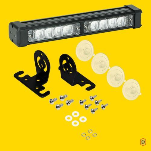 8W Amber Strobe Warning Deck Lights Bars for Emergency Vehicles Cars Trucks