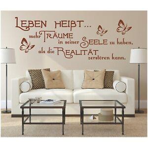 Wandtattoo Spruch  Leben heißt Träume Seele Wandsticker Wandaufkleber Sticker 2