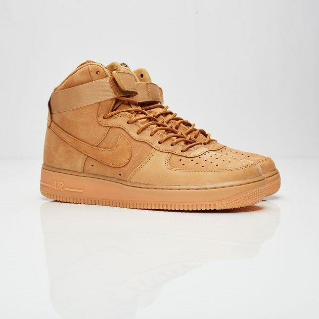 New Mens Nike Air Force 1 One High '07 LV8 Flax Wheat Green 882096-2018 AF1 Tan New shoes for men and women, limited time discount