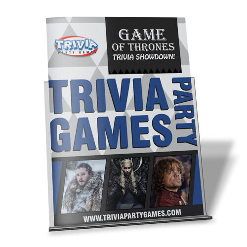 Game of Thrones Trivia Showdown Booklet Trivia Party Games