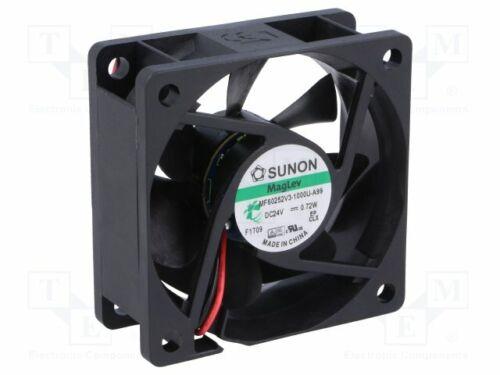 Dc Axial 24VDC 60x60x25mm 27 Fan 04m3//H 16,7dBA Vapo MF60252V3-1000U-A99 Dc