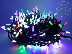 Stringa-serie-500-luci-di-Natale-led-a-prisma-multicolore-catena-40-mt-per-uso-e