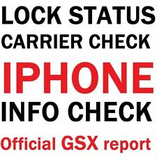 FULL Report iPhone IMEI Check Service GSX-Carrier SIMLock Activation iCloud