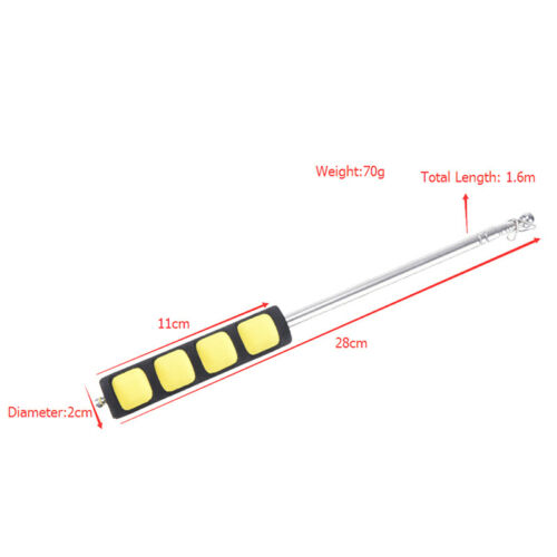 1.6M Portable Extendable Telescopic Handheld Windsock Flag Pole Pointer Poles JB