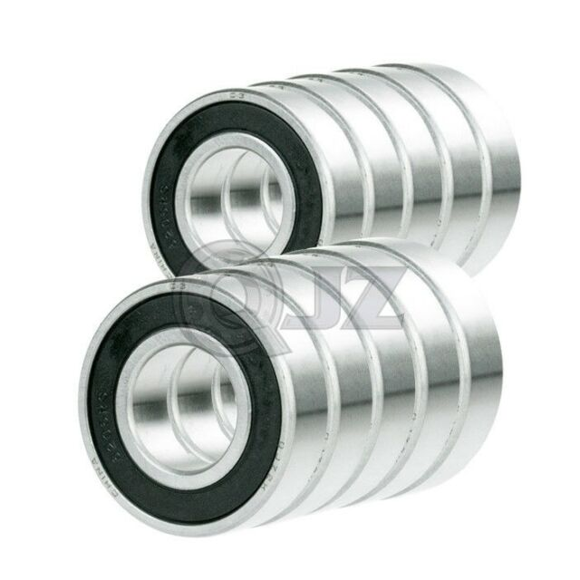 1x 6201-2RS Ball Bearing 1//2 inch x 32mm x 10mm Rubber Sealed Premium RS 2RS QJZ