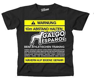 T Shirt Warnung Abstand Galgo Espanol Training Lustiger Spruch