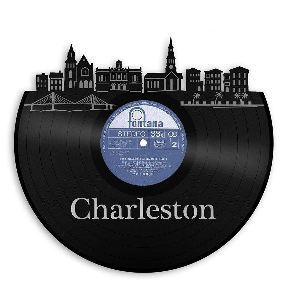 Charleston City Skyline Vinyl Wall Art Cityscape Home Decor Exclusive Design