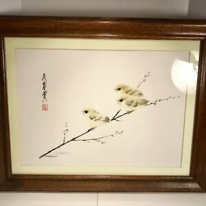 China-Frank-T-Gee-Limited-Edition-Print-of-Baby-Yellow-Birds-Signed-Numbered