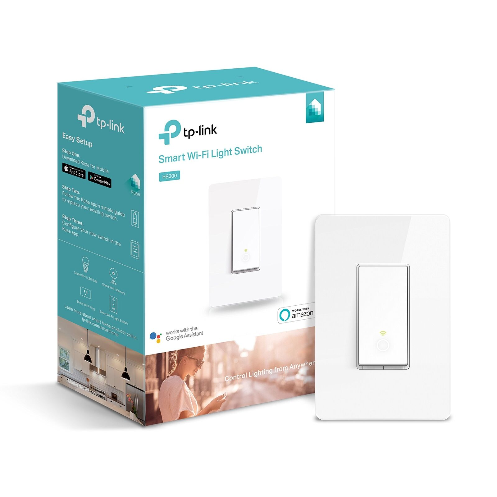 Kasa Smart Wi-Fi Light Switch by TP-Link - Control Lighting from Anywhere, Easy