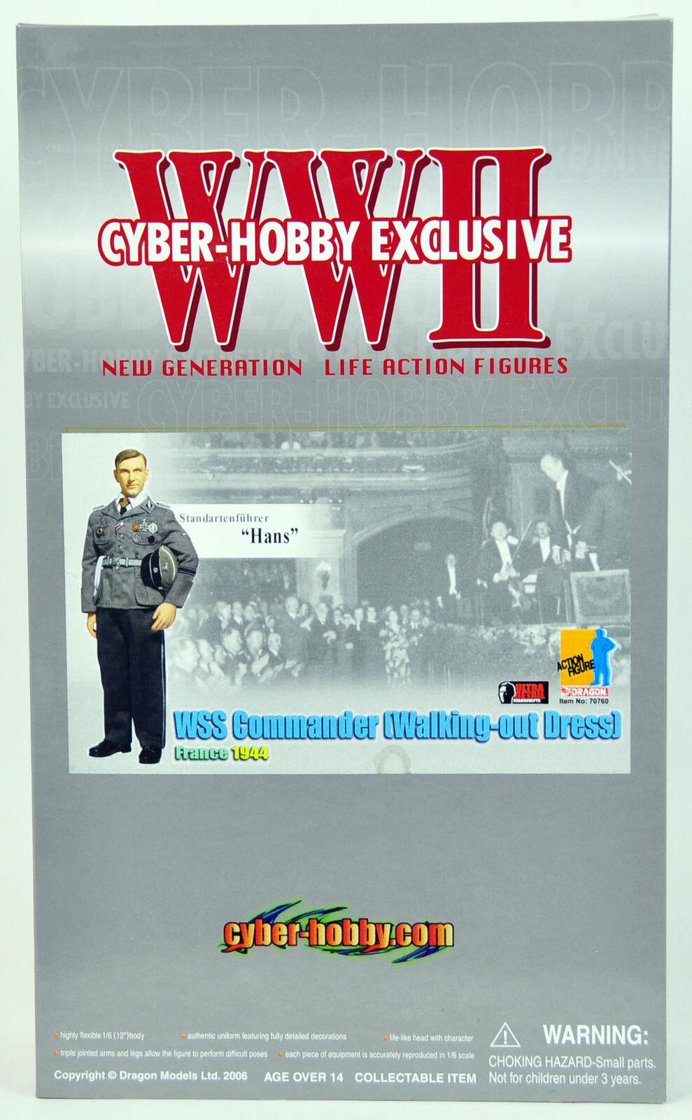 Dragon Cyber-Hobby Exclusive WSS Commander German WWII 1 6 Figure NEW Hans 70760
