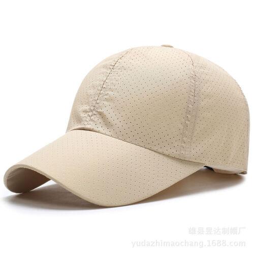 Unisex Adjustable Snapback Summer Baseball Cap Quick Dry Mesh Breathable Sun Hat