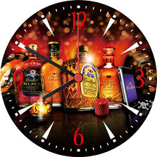 Crown Royal Whisky XR Reserve Black Cask Deluxe Decorative Wall Clock