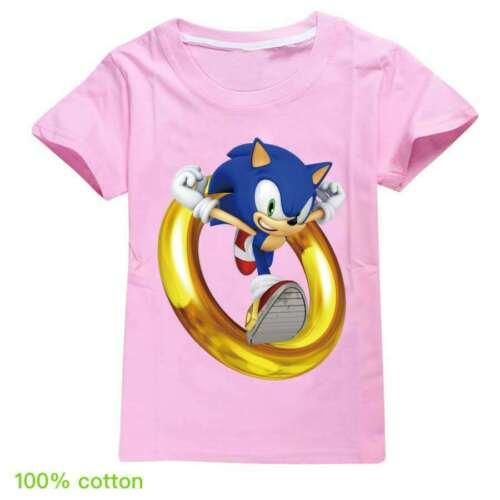 Sonic The Hedgehog Mädchen Jungen Kurzarm T-shirt Shirts Kinder Sommer Oberteil