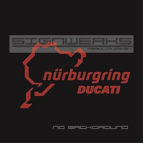 Ducati Nurburgring Decal Sticker logo Moto GP Bike Racing Italy Pair