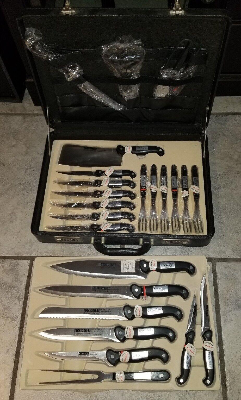 Bochmayer Professionnel Lot de Couteaux 24 Pièces couteaux couteaux en acier inoxydable, Case