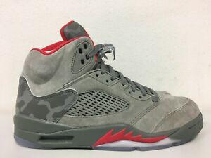 79a30eea8ee927 Nike Air Jordan 5 Retro Reflective Camo Dark Stucco 136027 051 Size ...