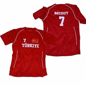 TURKEI-TRIKOT-ROT-WUNSCHNUMMER-WUNSCHNAME-WAPPEN-FAHNE-gestickt-alle-Groessen