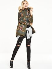 V by Very Butterfly Badge Camouflage Parka - UK 14