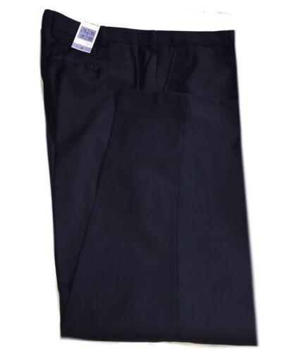 M/&s homme W 42 L 29 PURE LAINE bleu indigo Flat Front Coupe Standard Pantalon RRP £ 64