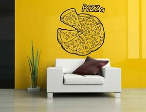Wall Vinyl Sticker Room Decals Mural Design Art Pizza Slice Cook Food   bo1365